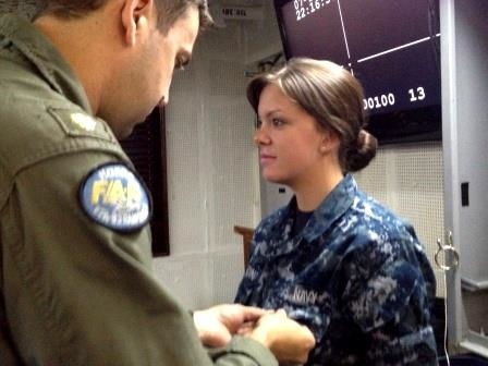 Yes I am a military momma! My oldest girl is a USMC Vet, and here, my daughter Chloe, receiving her wings serving in the U.S. Navy