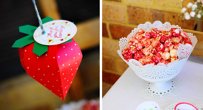 Sweet and whimsical strawberry themed birthday party