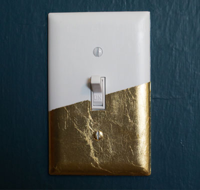 GOLD LEAF LIGHT SWITCH COVER
