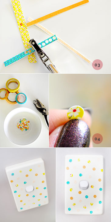 How to make DIY Washi Tape Light Switch Decal | Decor Ideas part2 | Craft project | Home and Garden