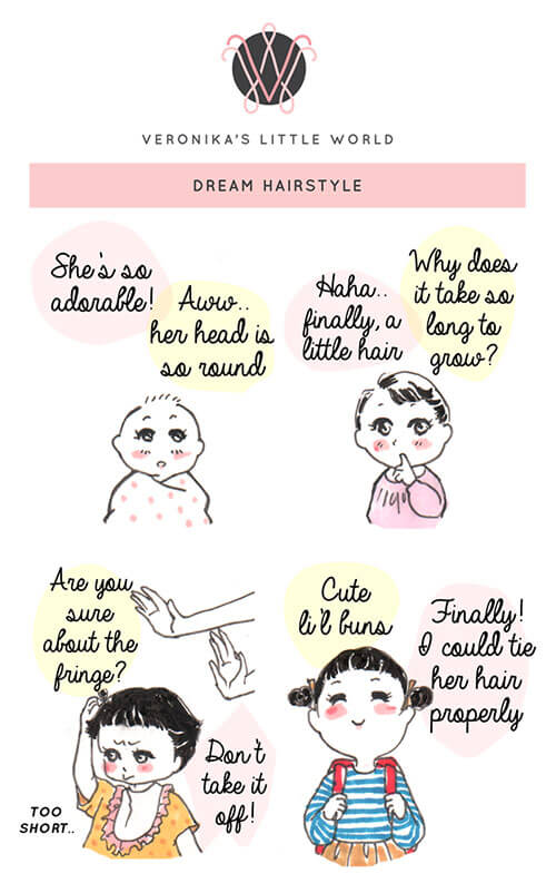 Dream Hairstyle | Veronika's Little World | A Comic Strip about Motherhood & Family #01