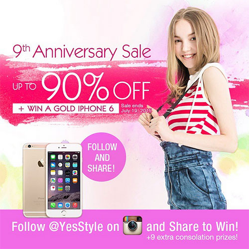 Yesstyle 9th Anniversary Sale up to 90% + Competition