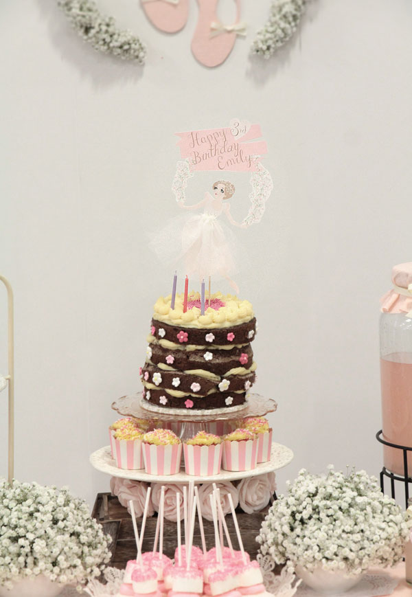 Ballerina Theme Birthday Party | Cake Topper