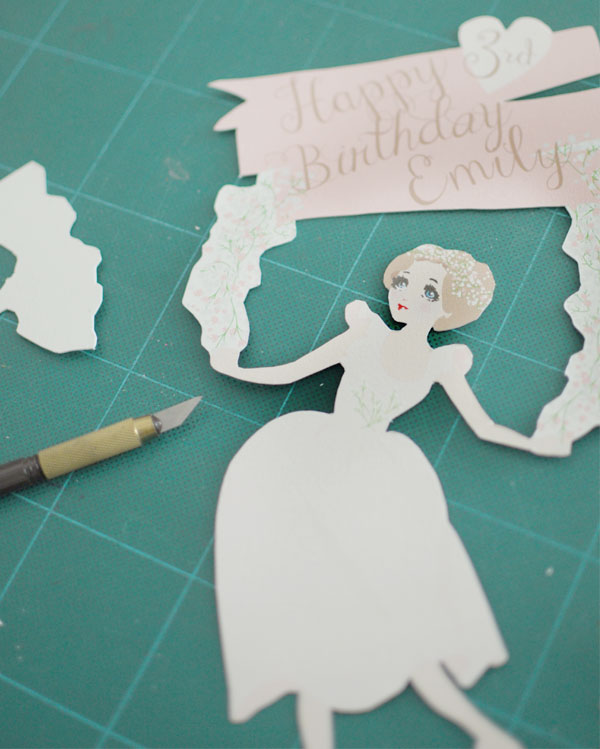 Ballerina Theme Birthday Party Cake Topper | Instructions
