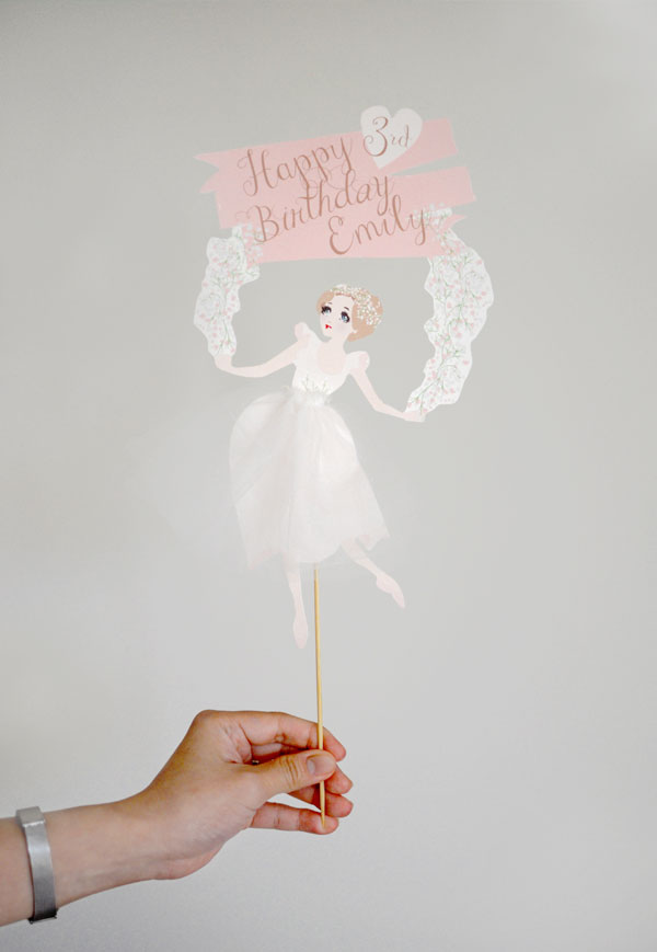 DIY Ballerina Theme Birthday Party | Cake Topper