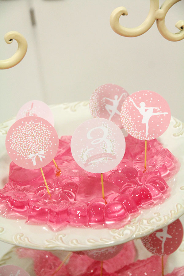 How to Create An Elegant Ballerina Birthday Party | Ballerina printable cupcake toppers