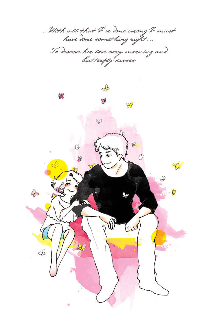 Special Father's Day Illustration | Inspired by Butterfly Kisses by Bob Carlisle | manga