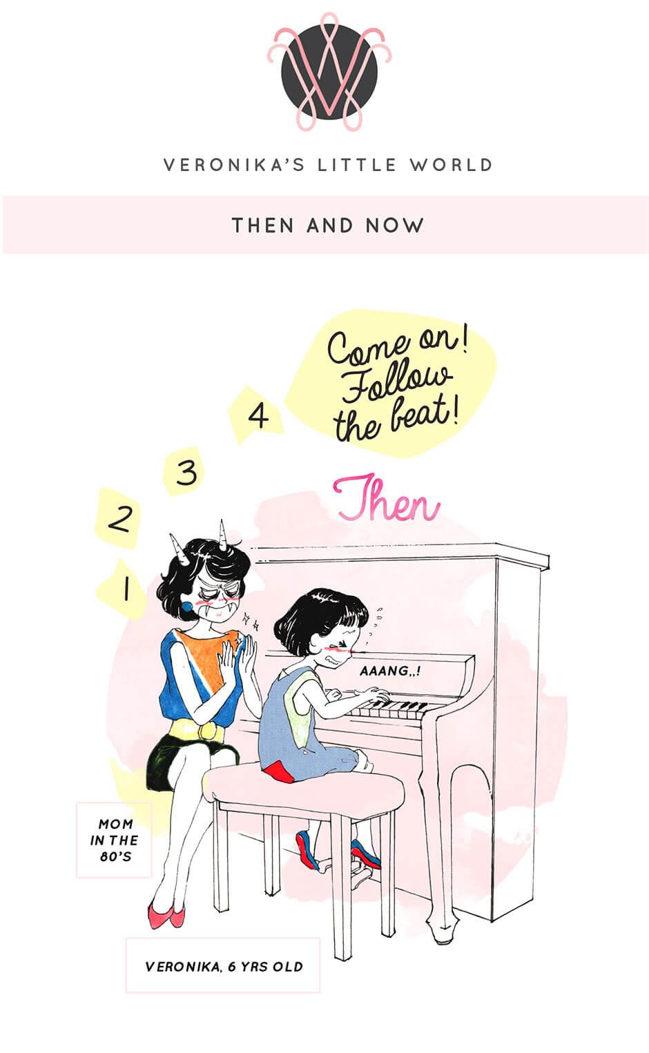 Tickled Pink Confetti | Veronika's Little World | Then & Now | Parenting (Mis)Adventures | Webcomic | Part 01