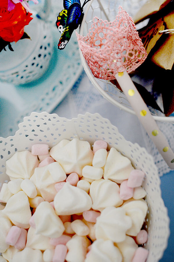 Blue Butterfly Cinderella Birthday Party | DIY Dessert Table