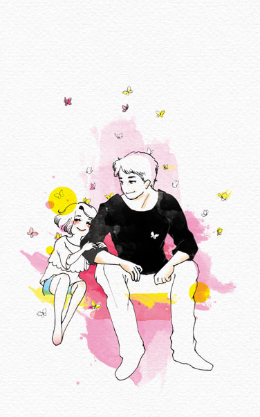 thumbnail | Father's Day Illustration | Tickled Pink Confetti by Veronika Kahrmadji