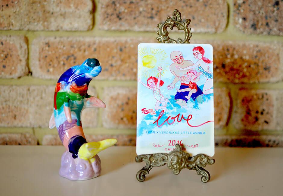 Veronika's Little World 2016 Calendar | Tickled Pink Confetti | by Veronika Kahrmadji