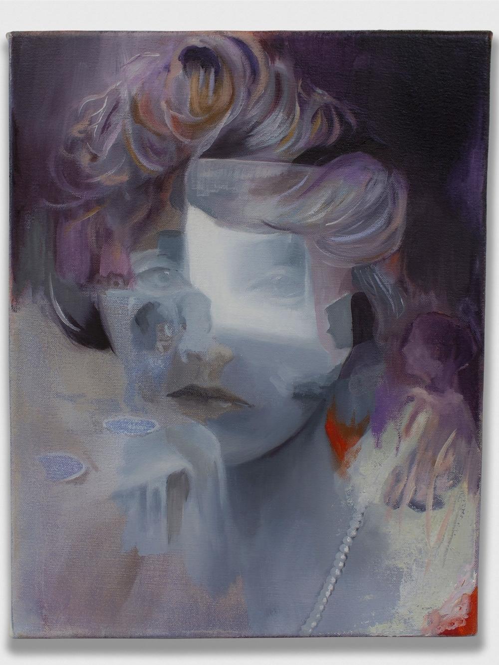 "A Breath of Sorrow,  2015, oil on canvas, 16x20"""