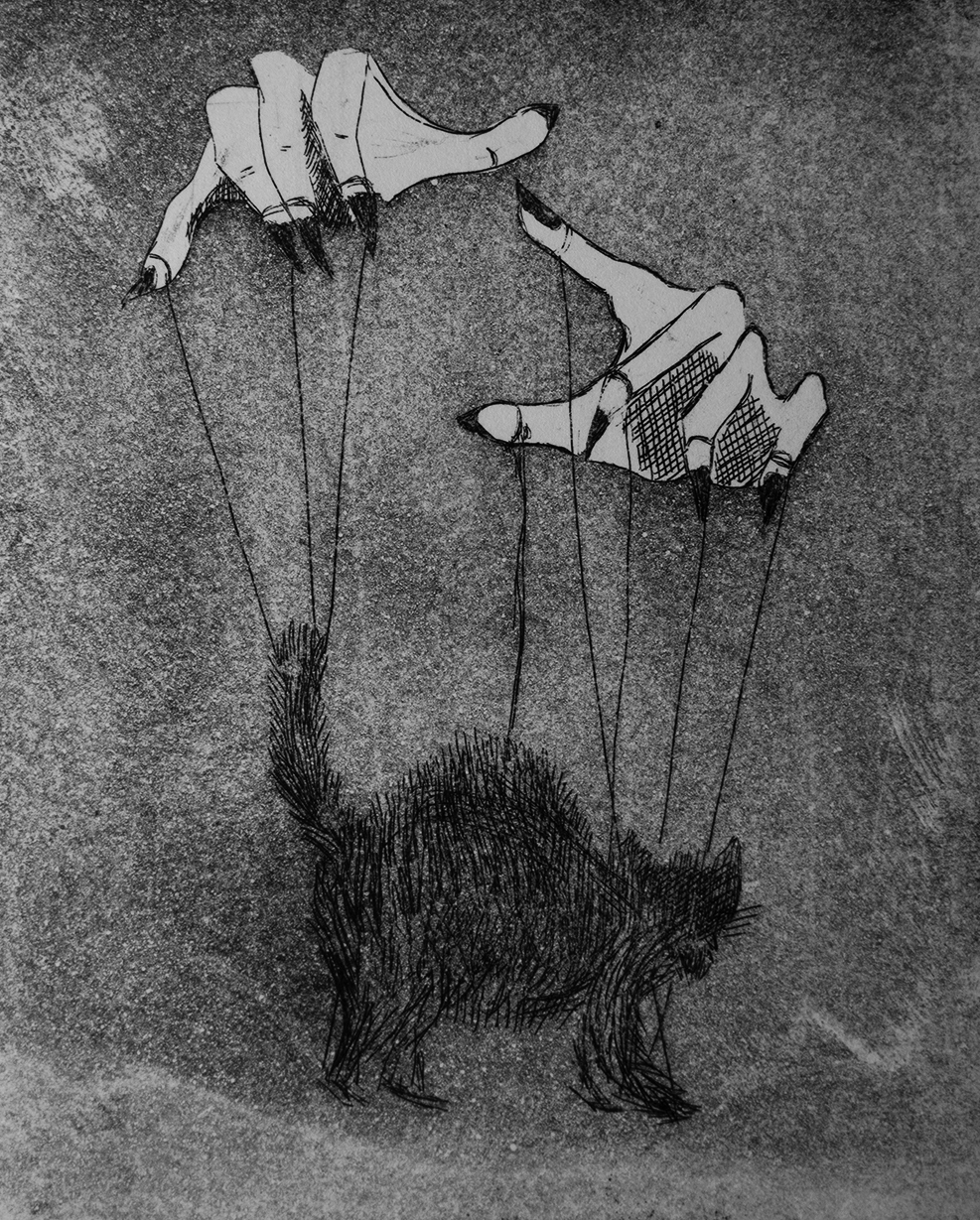 Mystique,  2014, etching and aqua tint on paper, 4.25x5''