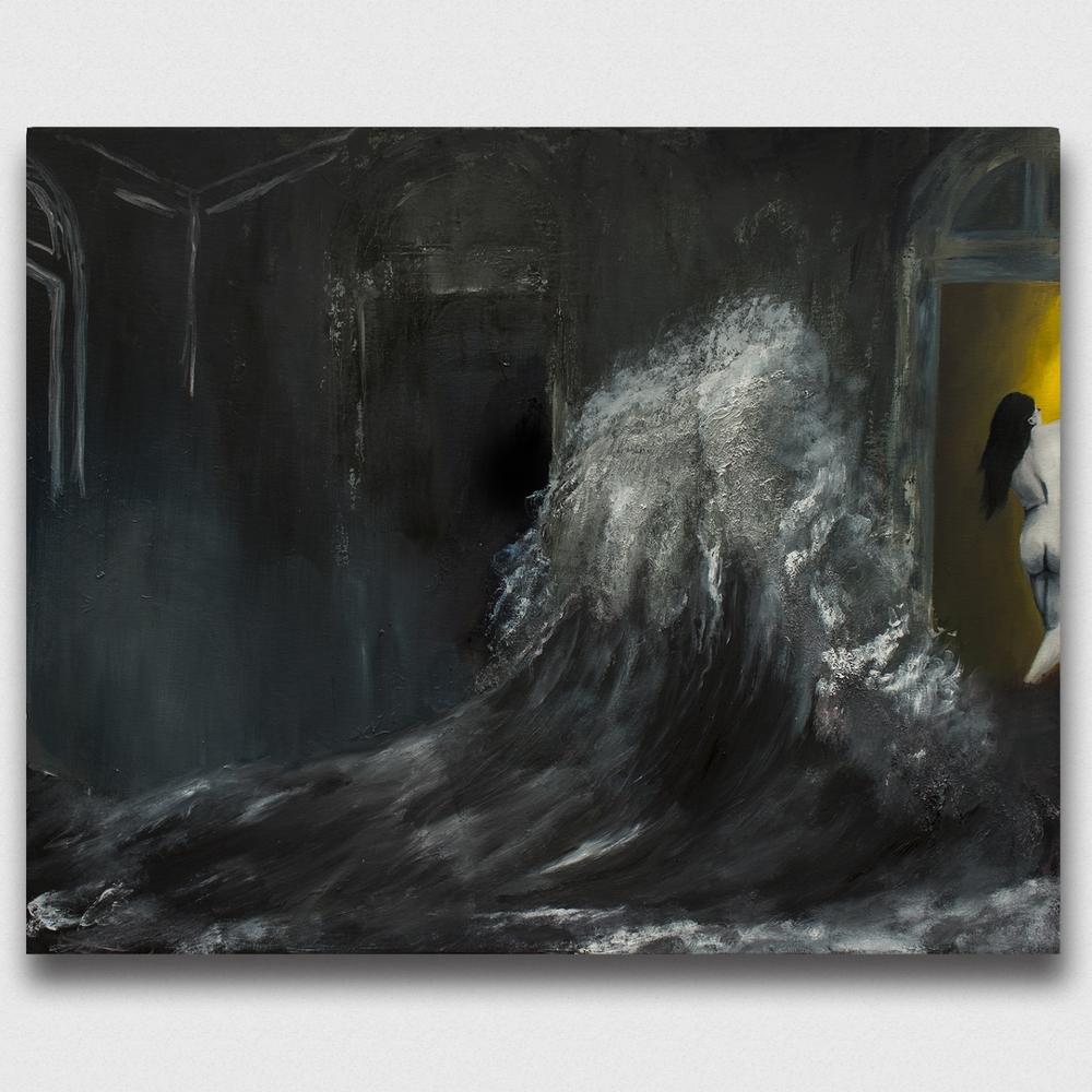 Run,  2015, oil on canvas, 24x30''