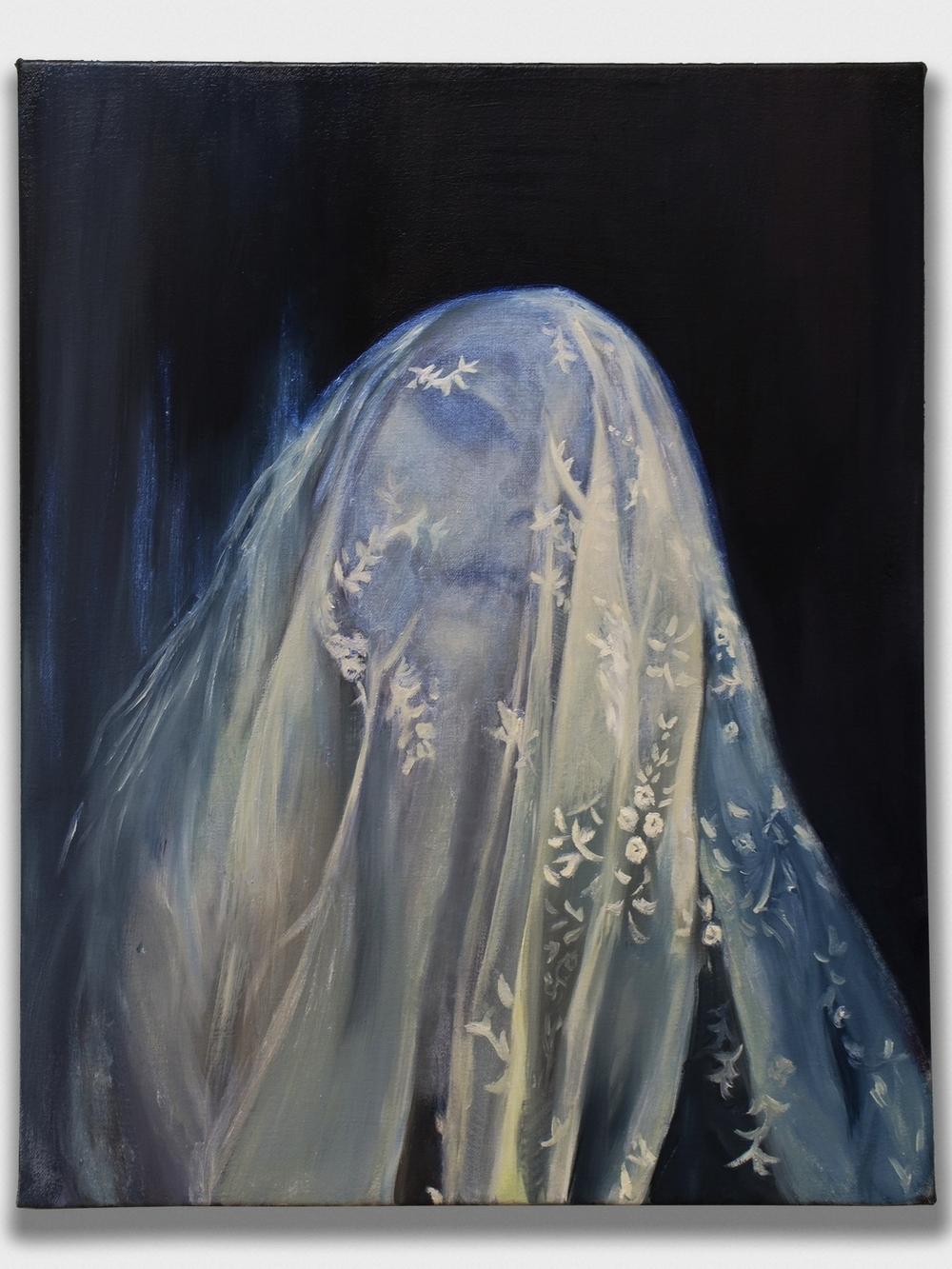 The Flesh of Midnight,  2015, oil on canvas, 16x20''