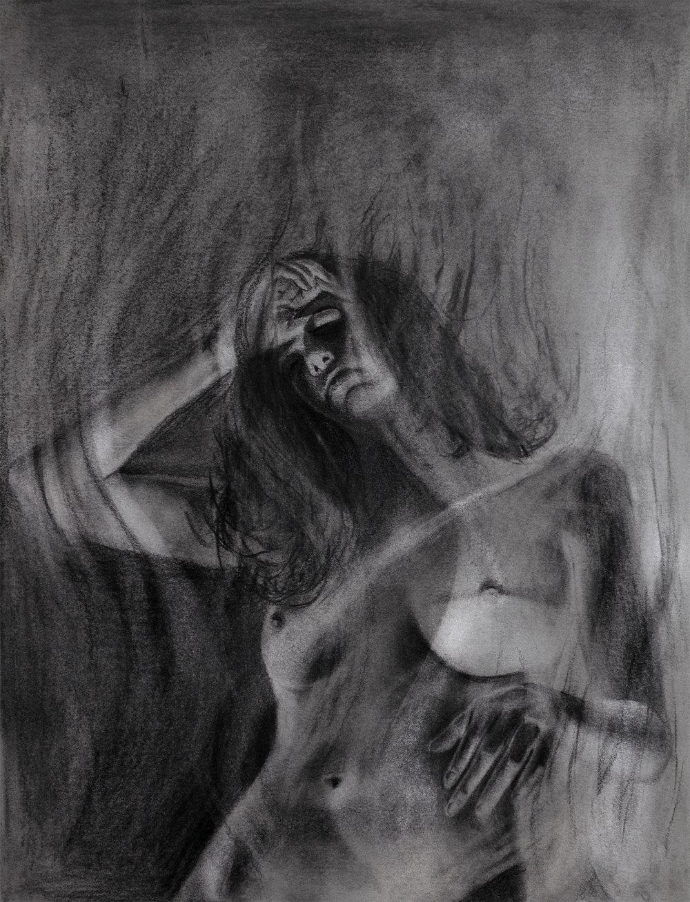 """Anemoi,  2017, graphite on paper, 11x14"""""""