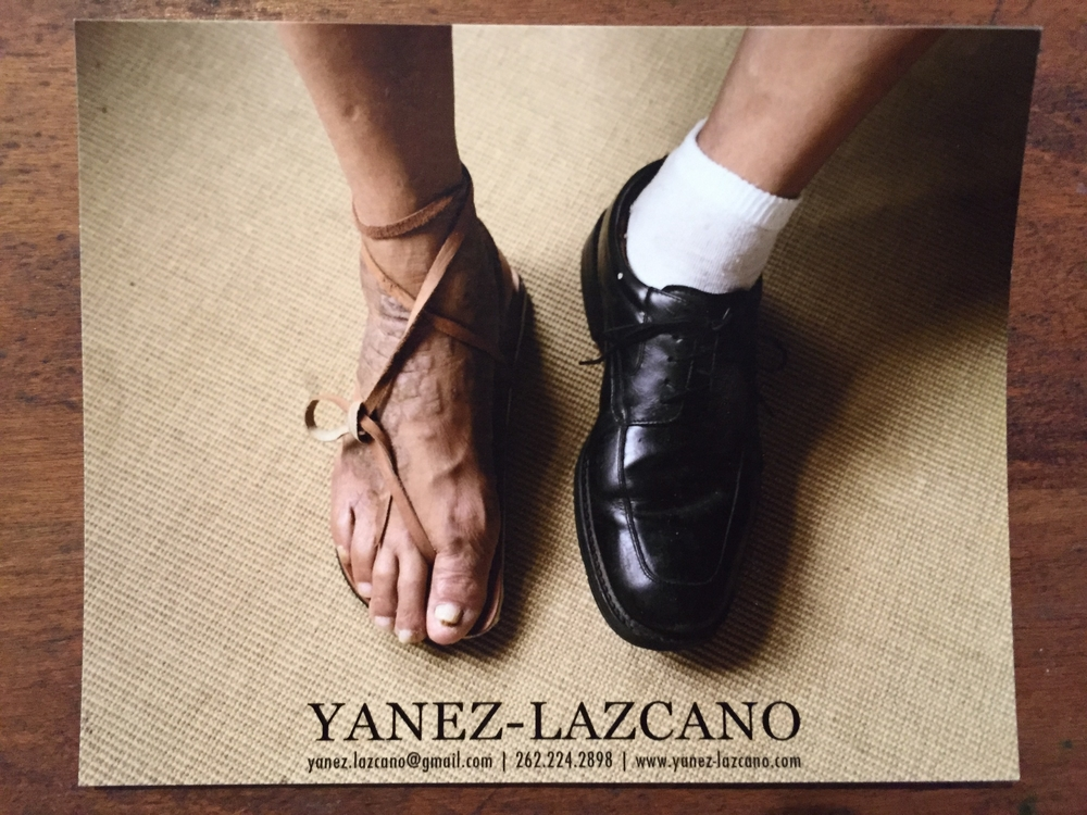 Really nice, clean card from Victor Yanez-Lazcano with a signature, memorable image from his series.