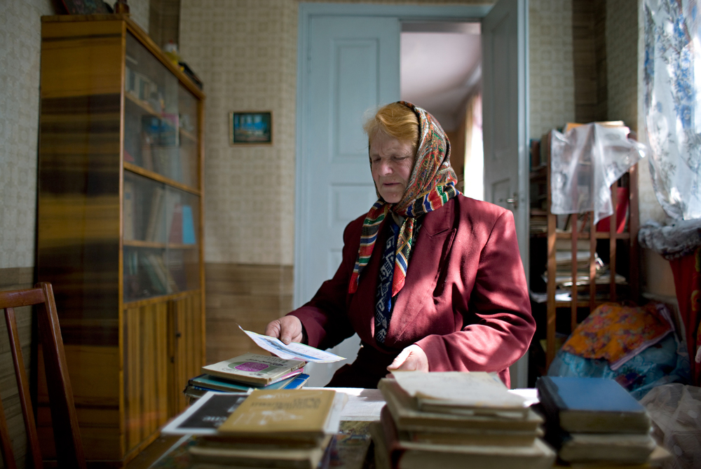 Yulia in the Study, Bershad, Ukraine 2008
