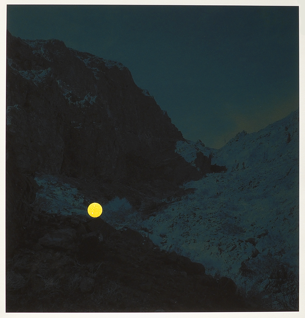 Photograph from the second round of Crusade for Art's CSA program | Climber on the ascent, Palo Verde Mountains Wilderness Area, near Blythe, California, 2013 (Yellow Dot) by John Brinton Hogan