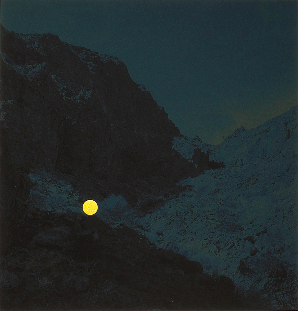 Climber on the ascent, Palo Verde Mountains Wilderness Area, near Blythe, California, 2013 (Yellow Dot) by John Brinton Hogan