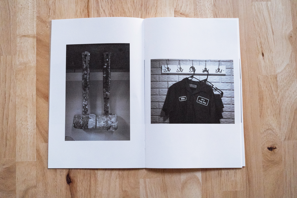 two of Nathan Pearce's images in his section of the split zine with Rachael Banks