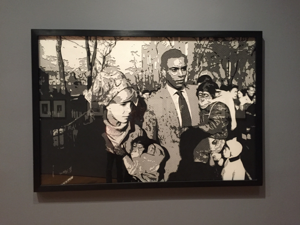 And then! I was at the High Museum of Art today to see the Vik Muniz retrospective (swoon!), and what do I see? This Muniz piece,  Couple Central Park Zoo, after Garry Winogrand  from the  Pictures of Paper series, 2008 . Photography is everything, just saying.
