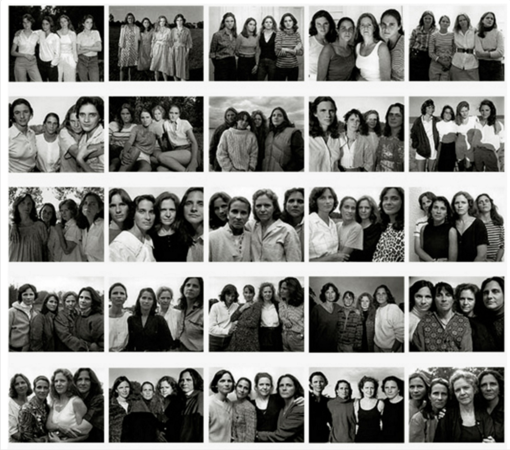 Nicholas Nixon photographs the Brown Sisters every year, starting in 1975