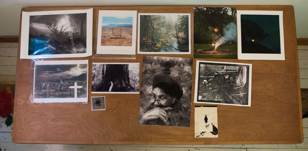From Tytia Habing's personal print collection: (left to right) Angela Bacon-Kidwell, Aline Smithson, Ben Huff, Kurt Simonson, John Brinton Hogan, Unknown, Maryanne Gobble, S Gayle Stevens, Unknown, Elizabeth Ellenwood, Angela Bacon-Kidwell
