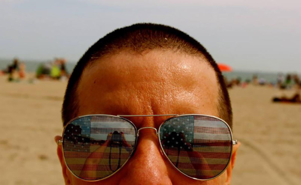 Ruben Natal-San Miguel,  AMEricano (selfie) , 2013, Rockaway, Queens. Image Source:  Slate