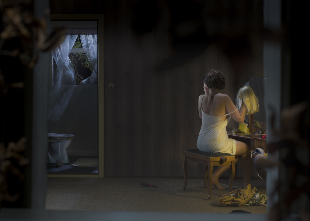 Ole Marius Joergensen,  Stormy Night , from the series   Behind the Curtains