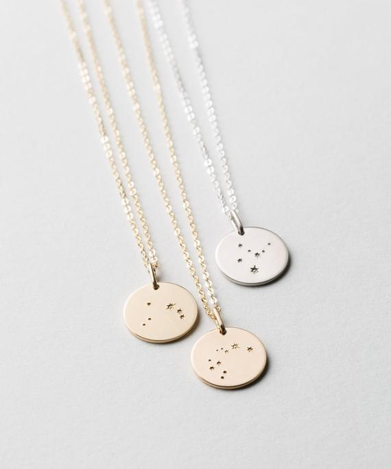 GLDN x Layered and Long Zodiac Constellation Necklace - Silver