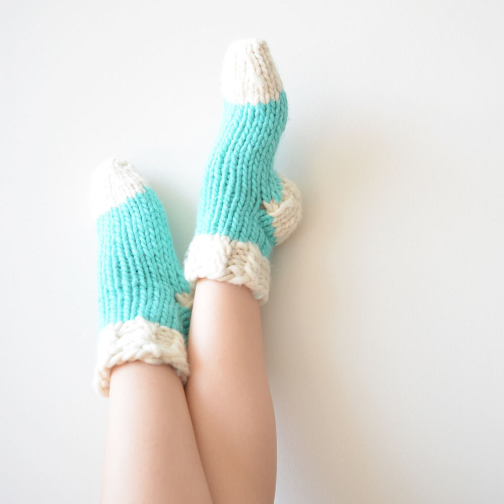 Thick Knit Slipper Socks