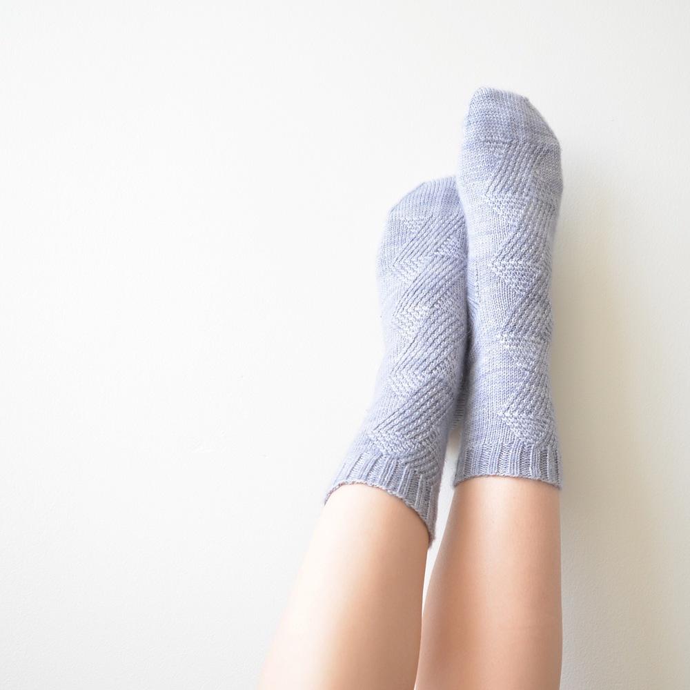 Geometric Cabled Sock