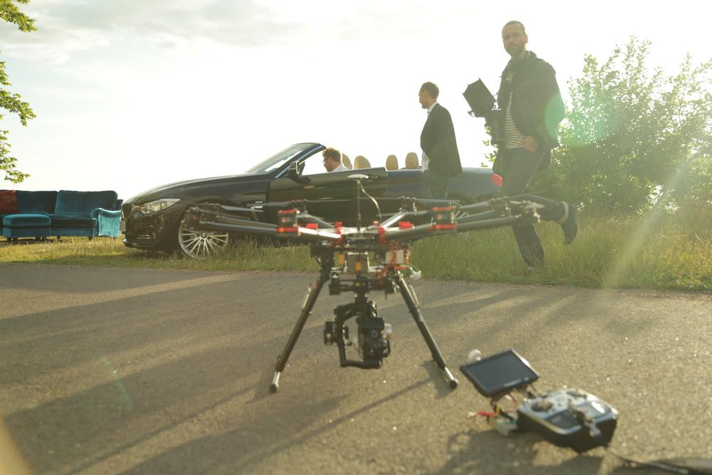 Här är en behind the scenes bild från förra veckans jobb