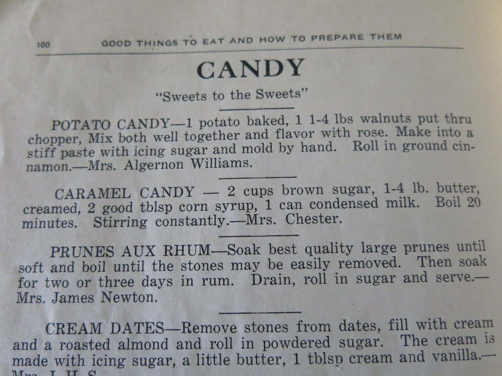 Here's the page with the recipe. I should've made Prunes aux Rhum instead.