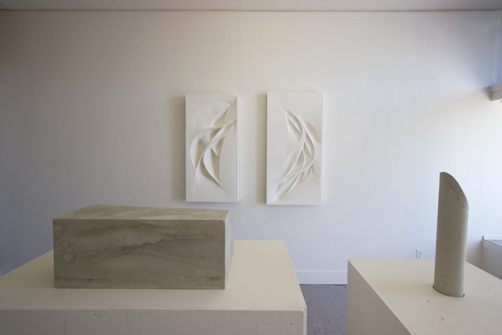 Custom Built-In   2015  Installation view (Untitled (white forms) shown center)