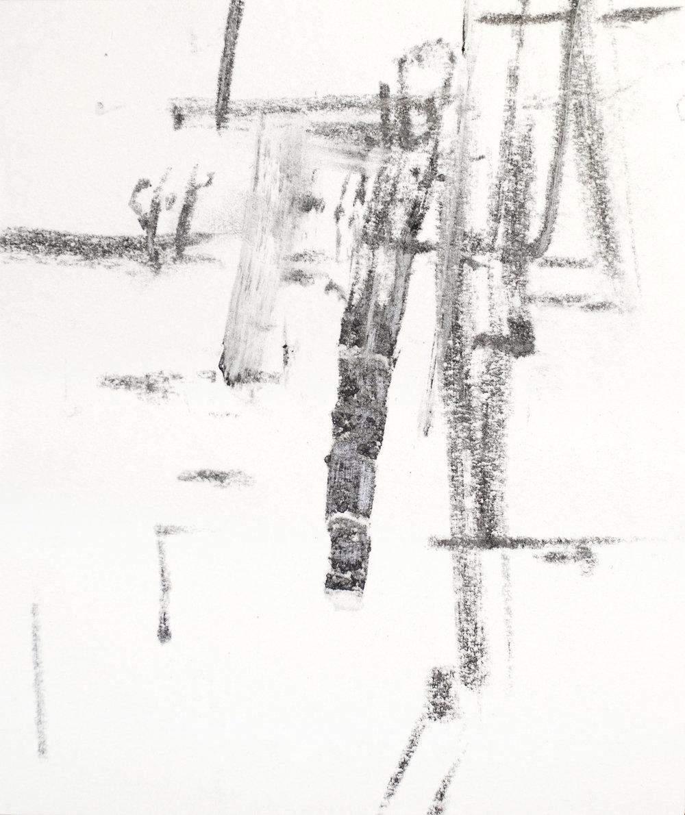 "5"" x 4.5""  graphite on paper"