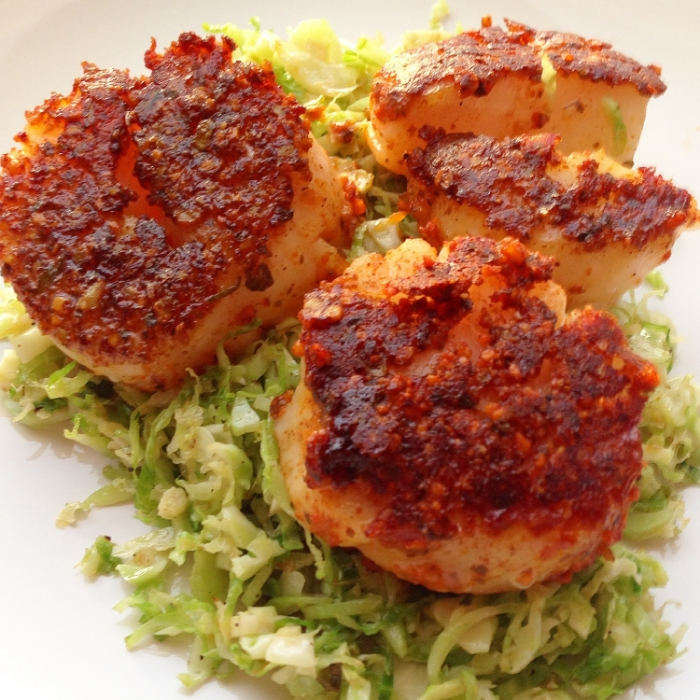 Pan-Seared Scallops with Brussels Sprouts