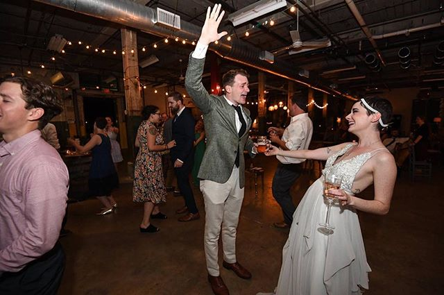 I have no clue what song this was, but based on the joy on @dwd0005's face, I have to assume it's by Toto. #donnieanderyn #09022017 #totoafrica #wedding #happy #asentimentalbride #truvelle