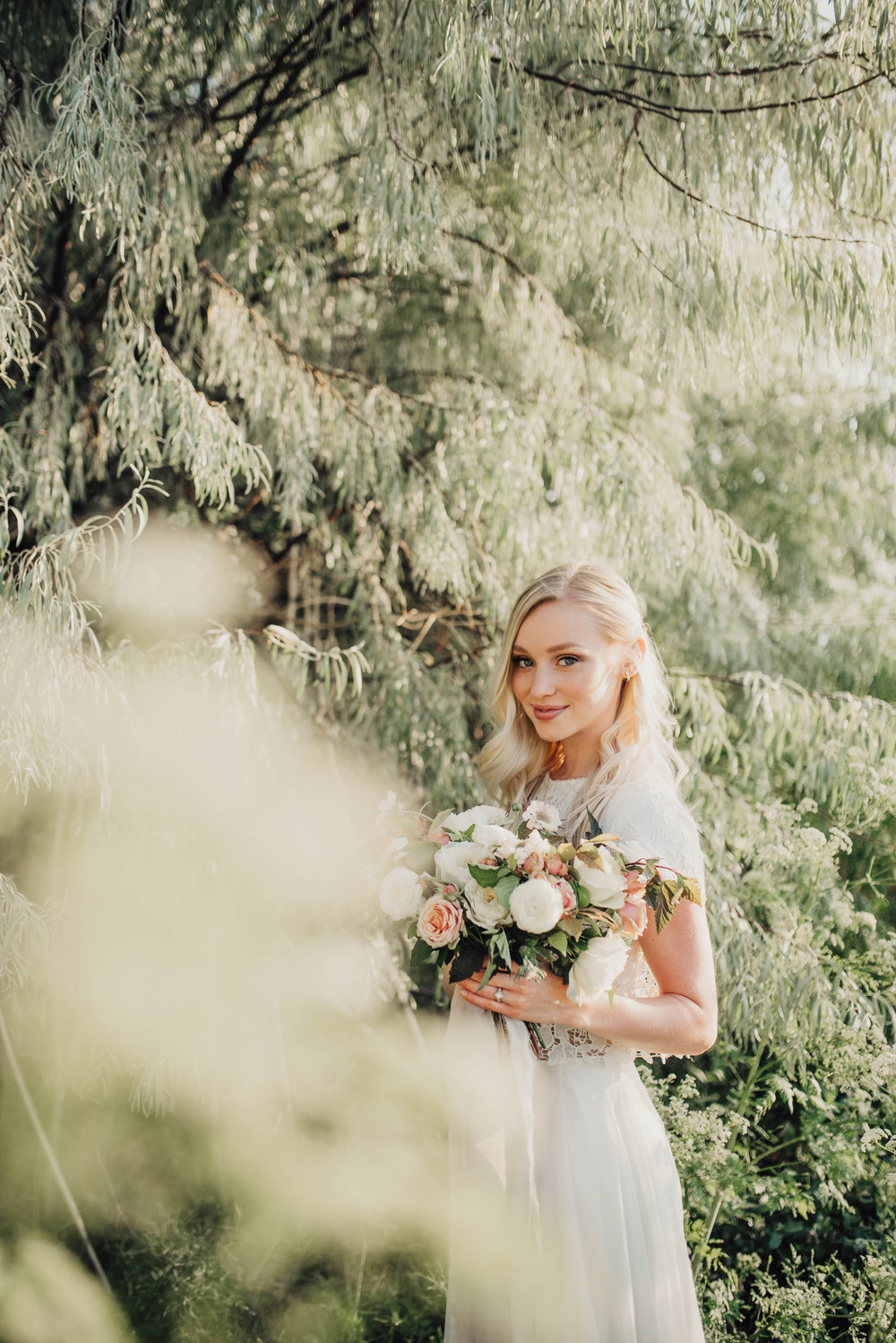 Utah bridals in greenery