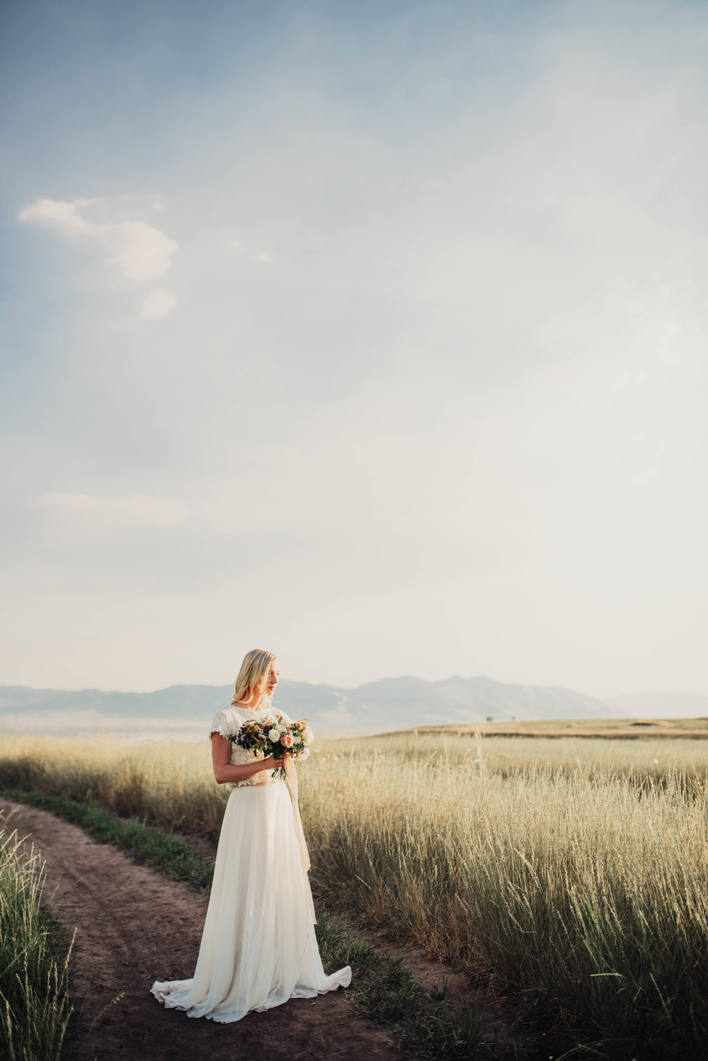 Utah bridals at sunset