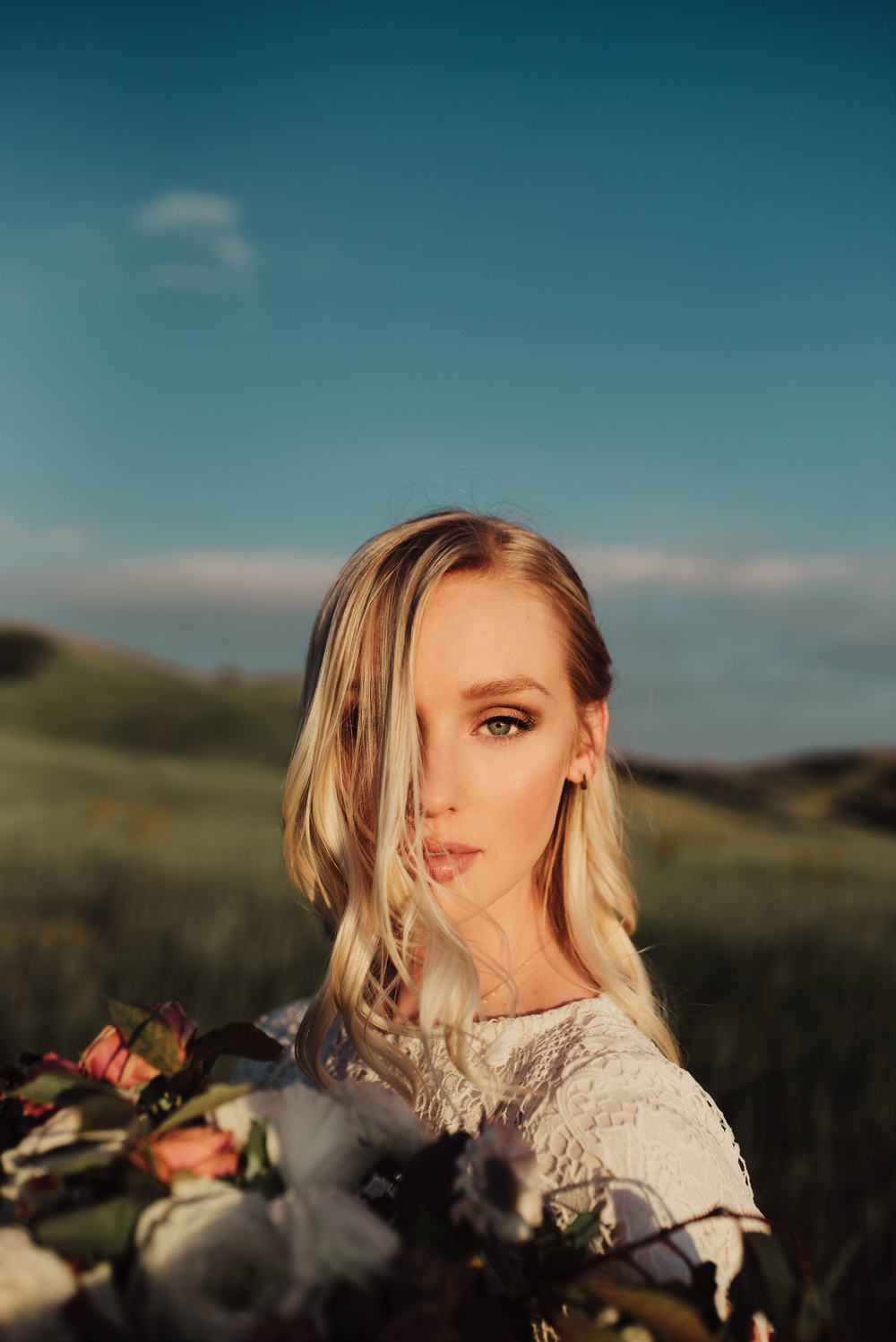 Harsh sunset light bridals