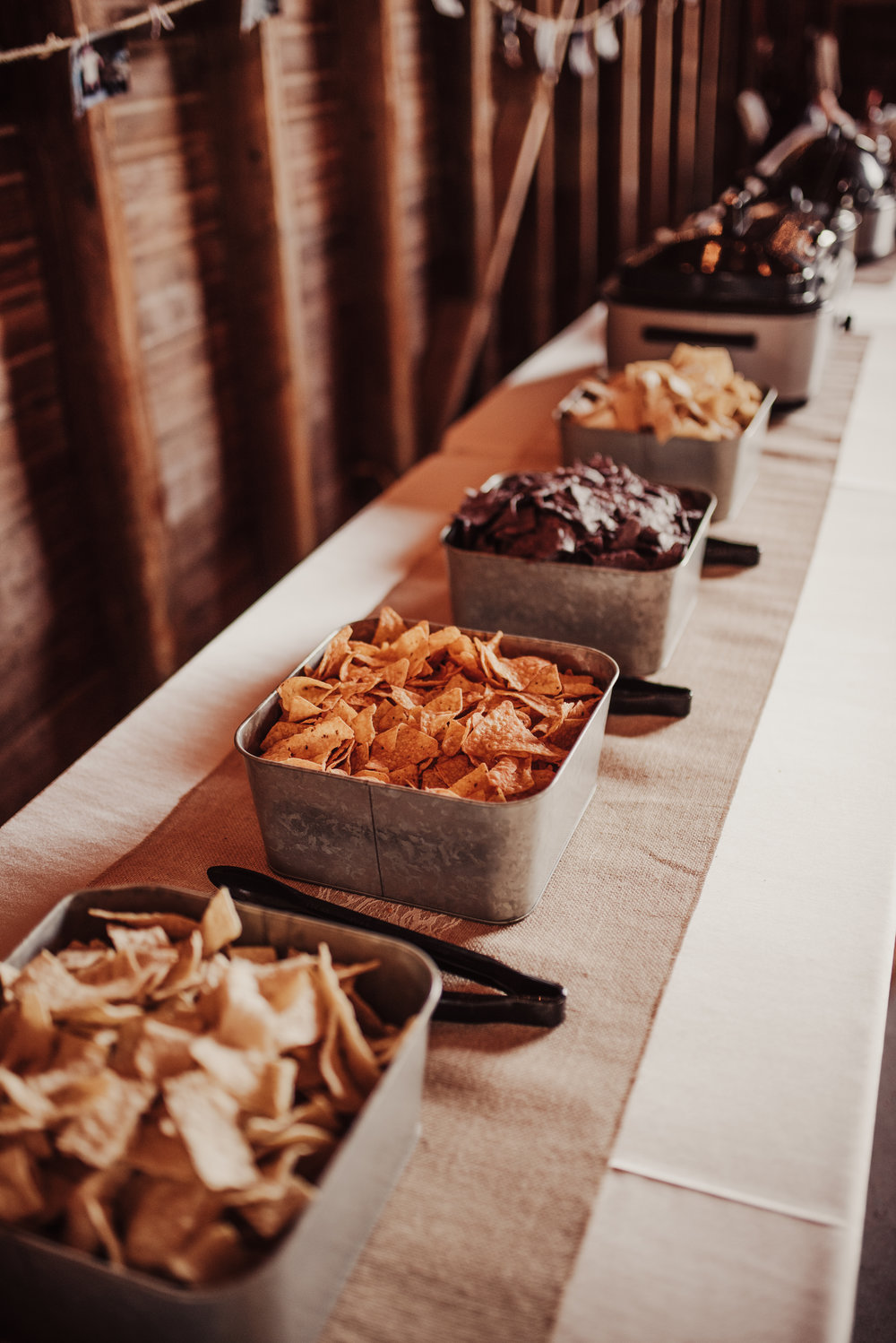 Wedding Reception Nacho Bar