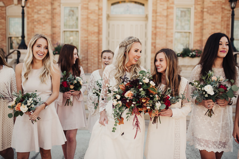 Provo City Center Temple Wedding Bridesmaids