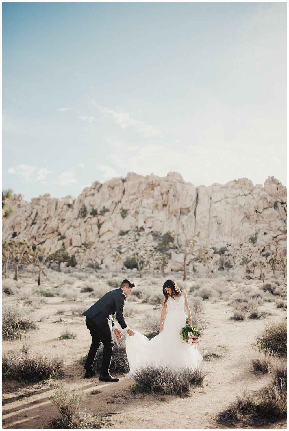 Bridal Session in Joshua Tree California