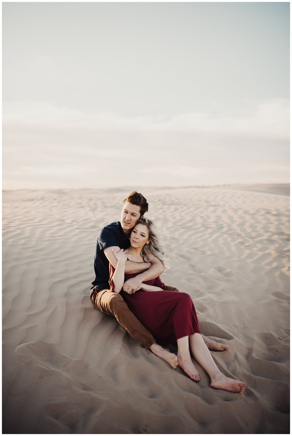 Coral Sand Dunes Utah Engagement Session