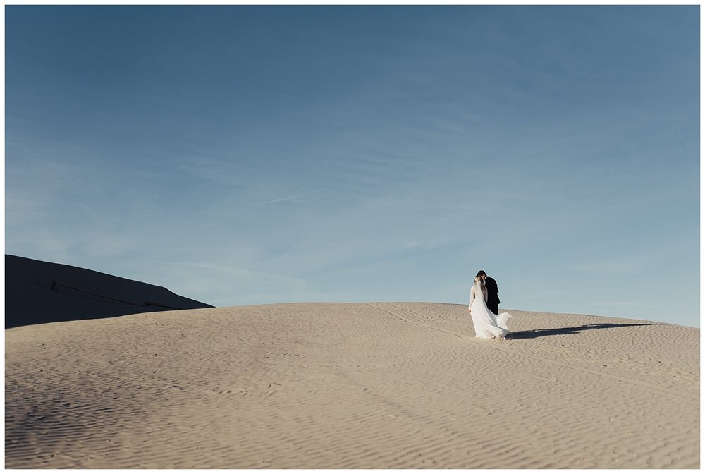 Little Sahara Sand Dunes Bridal Session