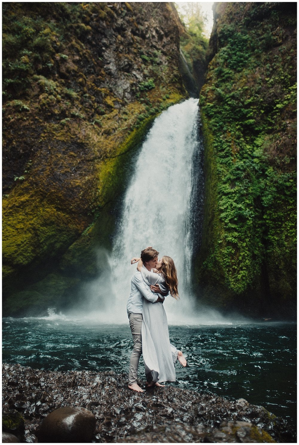 Wahclella Falls Elopement in Oregon