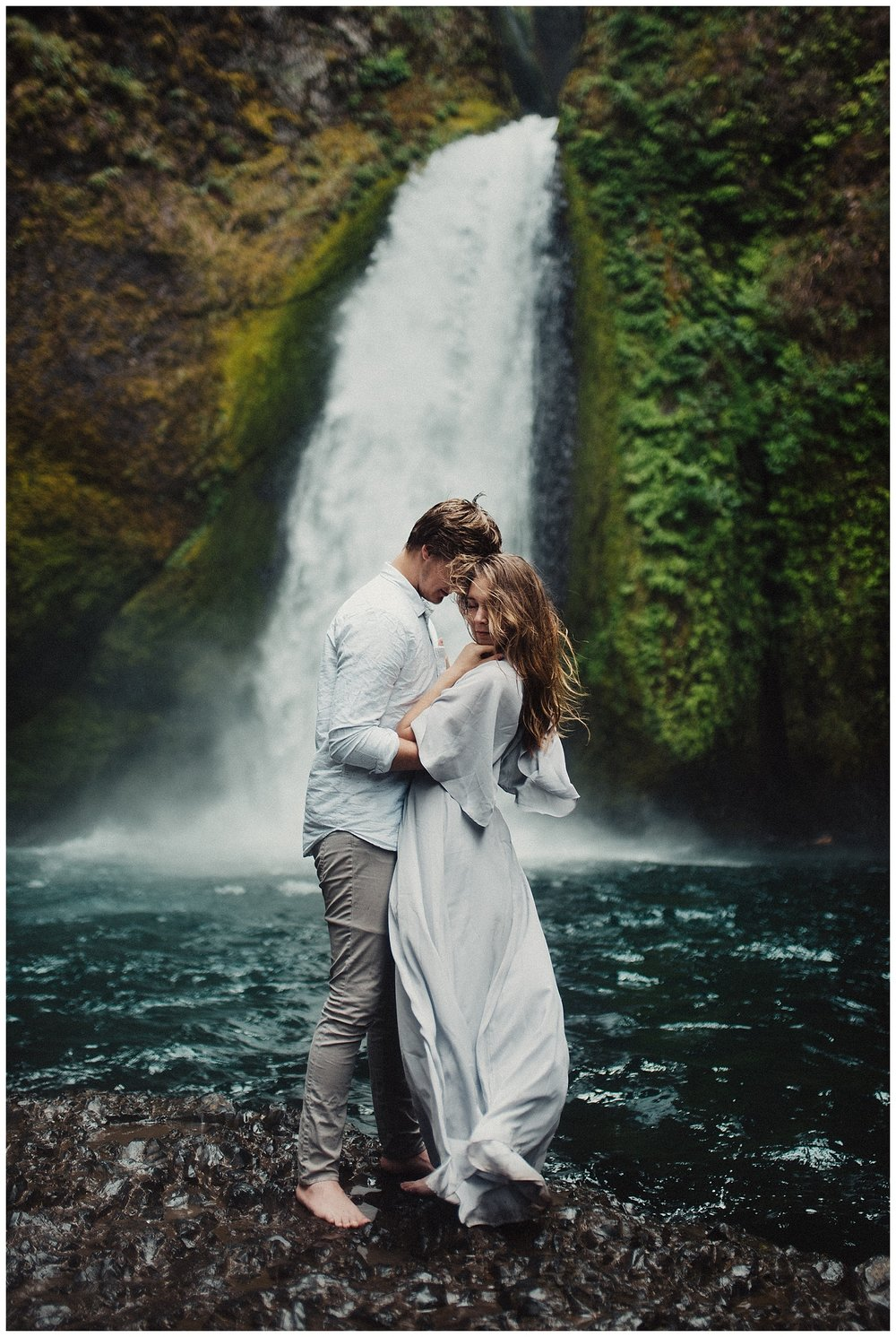 Wahclella Falls Couple's Session in Oregon