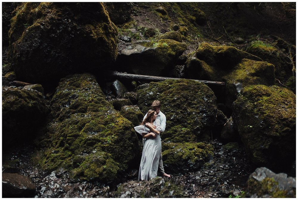 Oregon Couple's session at Wahclella Falls